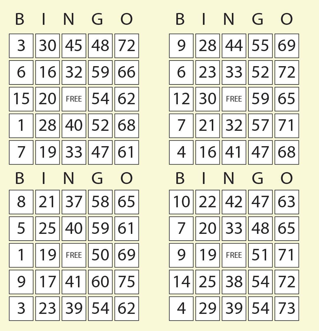 Bingo call sheet