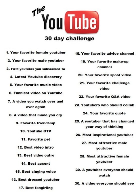 Challenges To Do For Youtube