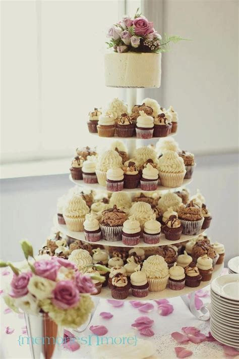 Gigi's Cupcakes wedding reception cupcake stands   mix of