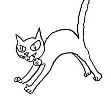 Dibujos Para Colorear Un Gato Negro En Un Techo Eshellokidscom