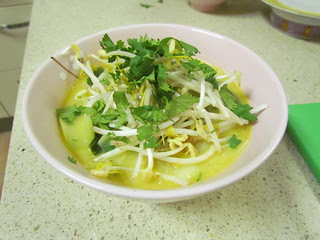Indonesian Noodle Soup with Tofu