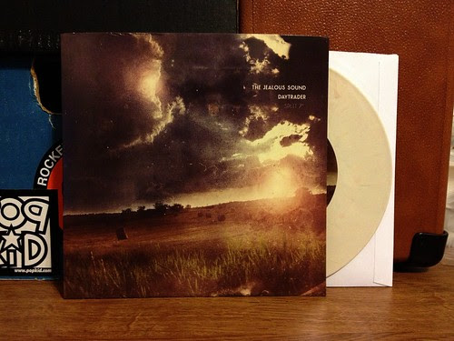 "The Jealous Sound / Daytrader - Split 7"" - Tan Vinyl by Tim PopKid"