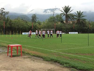 Treino do Flamengo (Foto: Ivan Raupp)