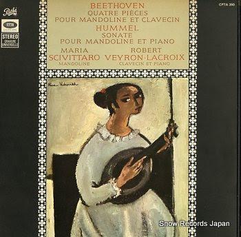 SCIVITTARO, MARIA beethoven; quater pieces pour mandoline et clavecin