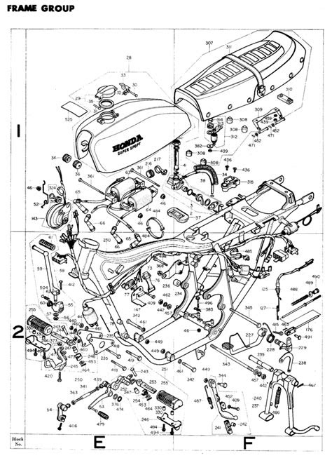 exploded views + parts list | 4into1.com Vintage Honda