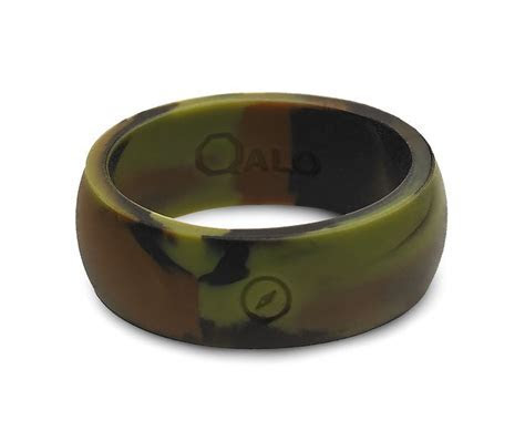 Men's Camo Silicone Ring   Traditional, We and Metals