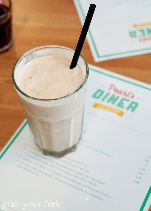chocolate milkshake at pearl's diner, felixstowe, adelaide
