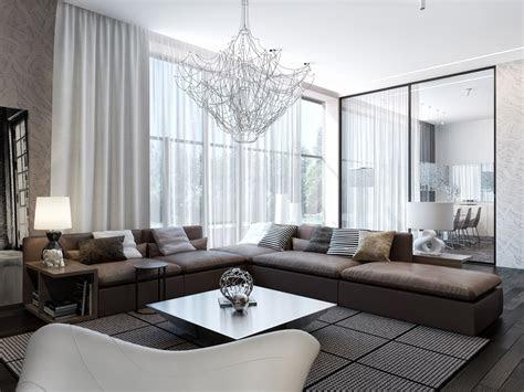 small apartment living room  sliding door  decorative