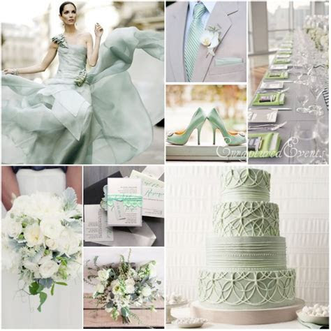 Seafoam and Gray Wedding Inspiration  Munaluchi Bride