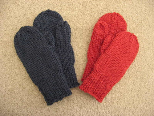 Knit Unto Others mittens