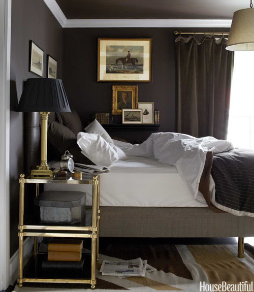 Brass Etagere - Transitional - bedroom - House Beautiful