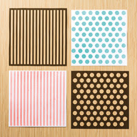 Dots & Stripes Decorative Masks