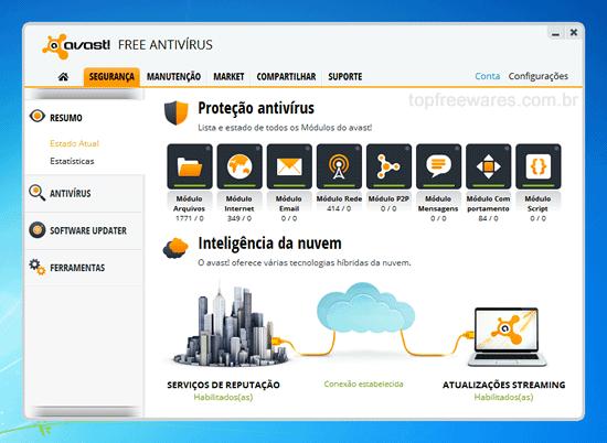 Antivírus gratuito para Windows - Avast Free Antivírus