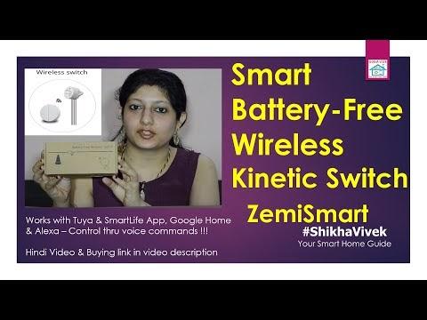 Smart Wireless Battery Free Kinetic Switch | ZemiSmart