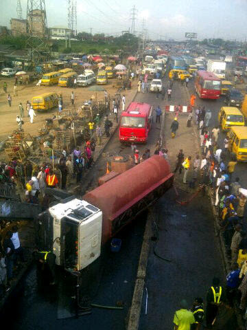 Tanker accident in Lagos