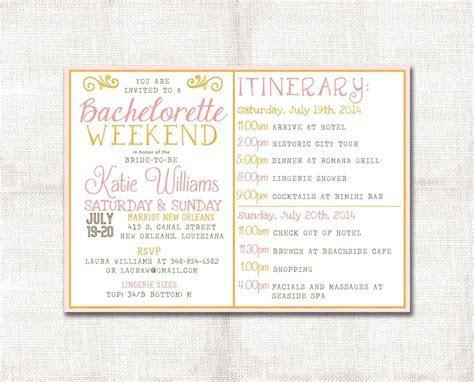 template: Bachelorette Party Agenda Template Zoom Free