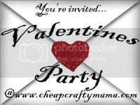 Valentines Party Invited Button