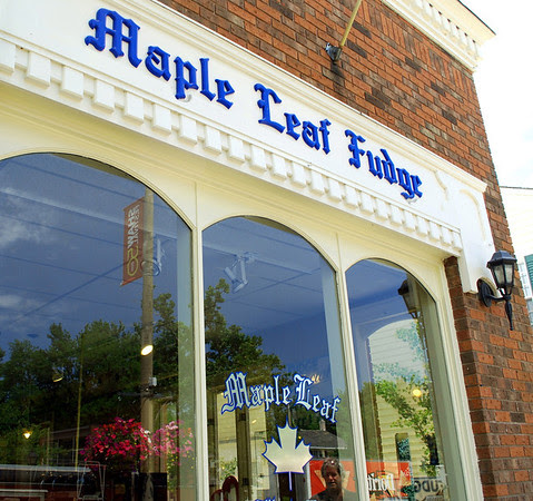 Maple Leaf Fduge, located on Queen Street in Niagara-on-the-Lake since 1967.