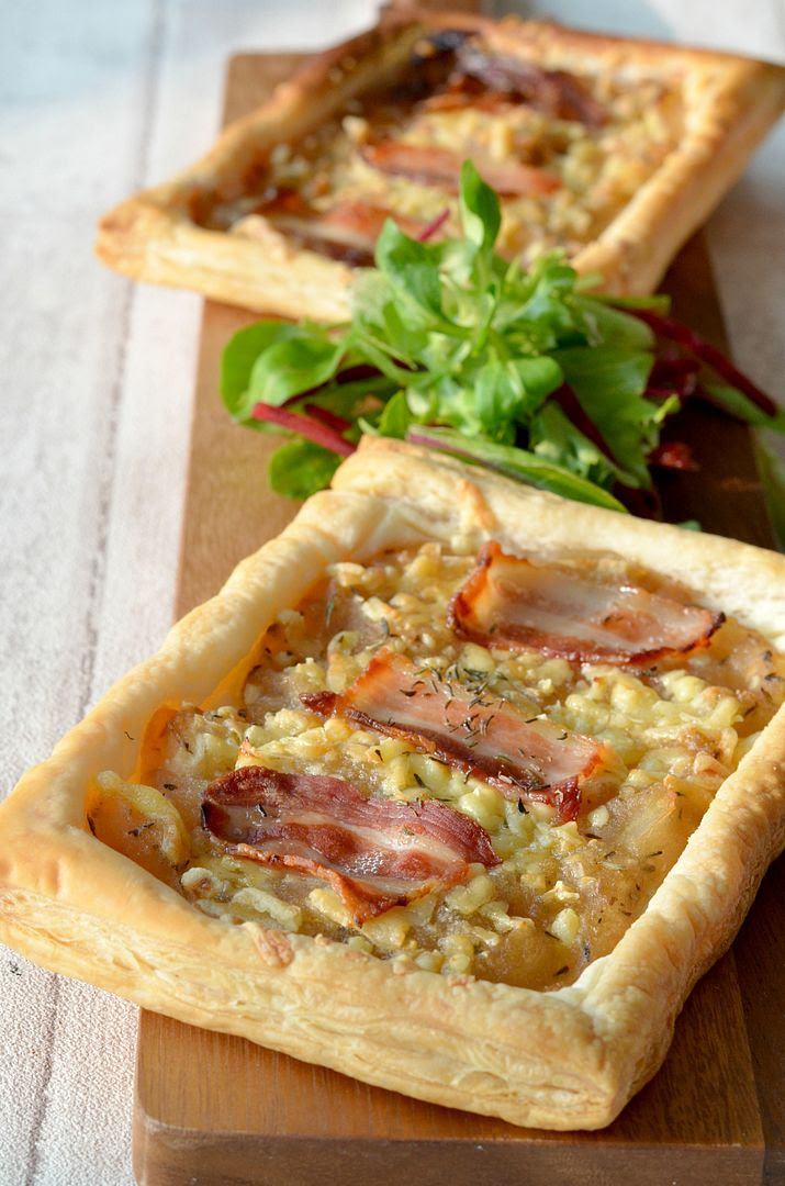 Bramely Apple, Cheese & Bacon Tarts