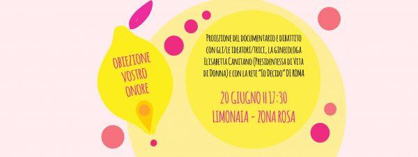 Obiezione Vostro Onore: 20 giugno a Pisa nuova proiezione dell'inchiesta sulla legge 194