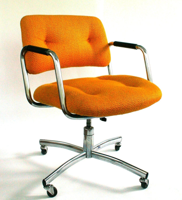 Vintage Office Desk Chair MidCentury Upholstered by RhapsodyAttic