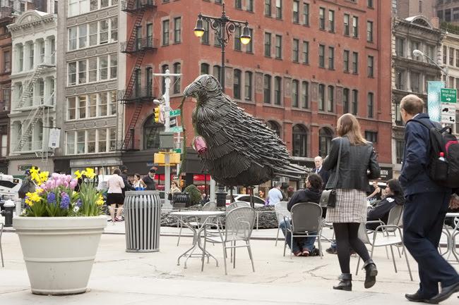 Giant bird, nyc