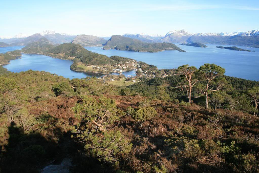 Utsikt innover mot Brandsøya