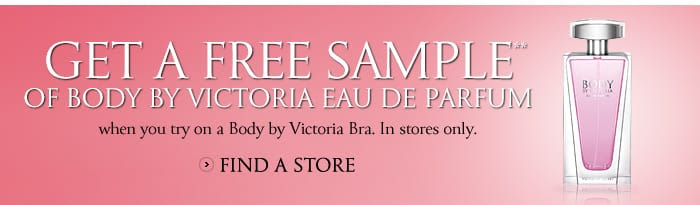 vss bbv bra promotion bnr Free Victorias Secret Body By Victoria Eau de Parfum   No Purchase Reqd