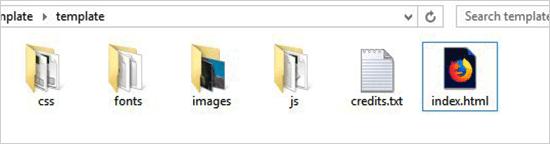 HTML Template File
