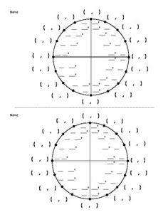 Blank Unit Circle | school | Pinterest | Circles and Blank unit circle