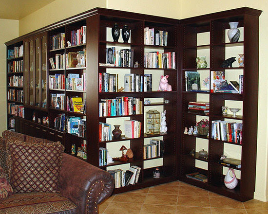 Media Room Custom Bookcase Design Ideas, Pictures, Remodel, and Decor