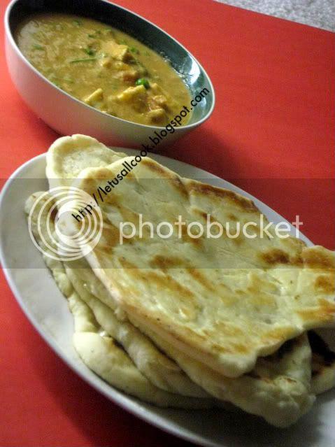 Naan- Indian Flat Bread with Mattar Paneer