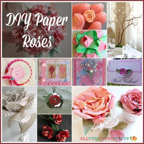 How to Make a Paper Rose: 30  DIY Paper Roses