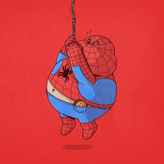 スパイダーマン 何これかわいい人気画家が描いた有名キャラクター