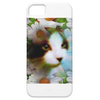 canvass kitty surrounded by flowers iPhone 5 cases