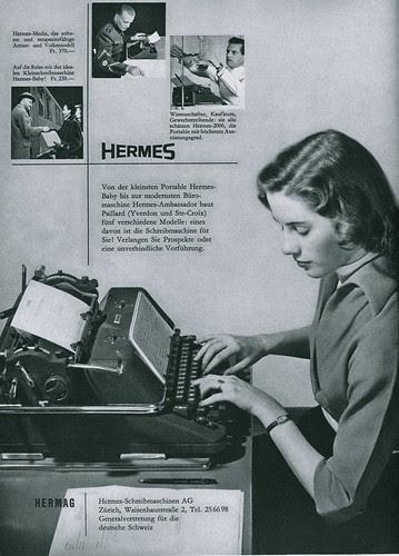 Du 1953-04 Hermes typewriters