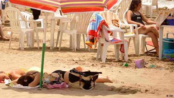 Strand Palm Beach östlich von Hauptstadt Algier