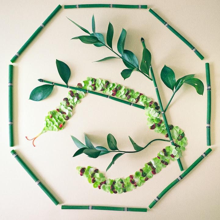perierga.gr - Εντυπωσιακά έργα τέχνης με πέταλα λουλουδιών!