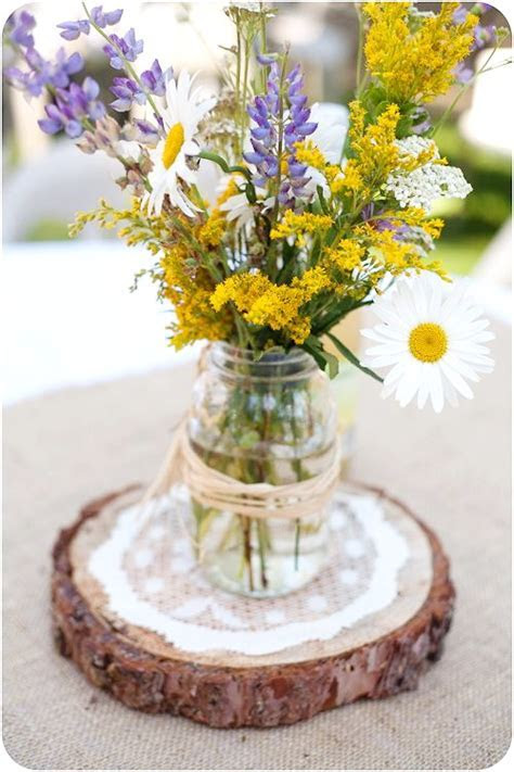 12 Country Wedding Wood Centerpieces ? Unique & Cheap