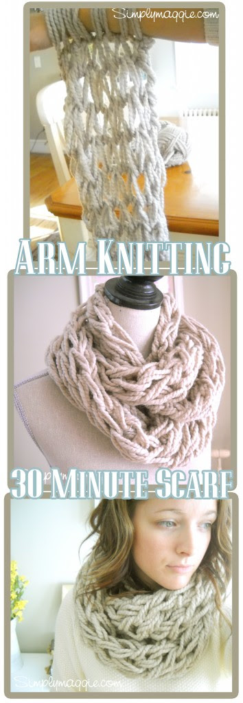 Arm Knitting - How to by Simply Maggie