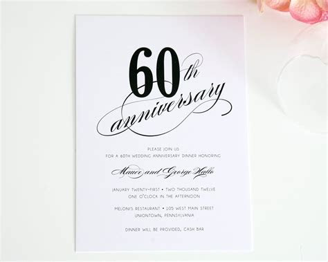 60th Wedding Anniversary Invitations Ideas   60th
