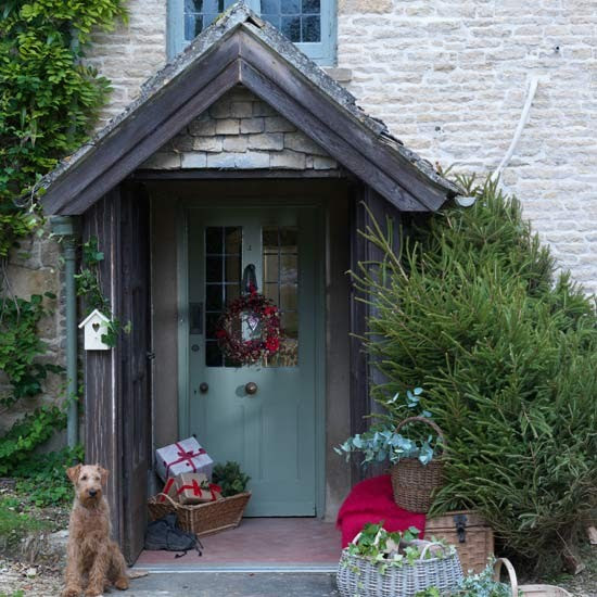 Modern Country Christmas Front Door