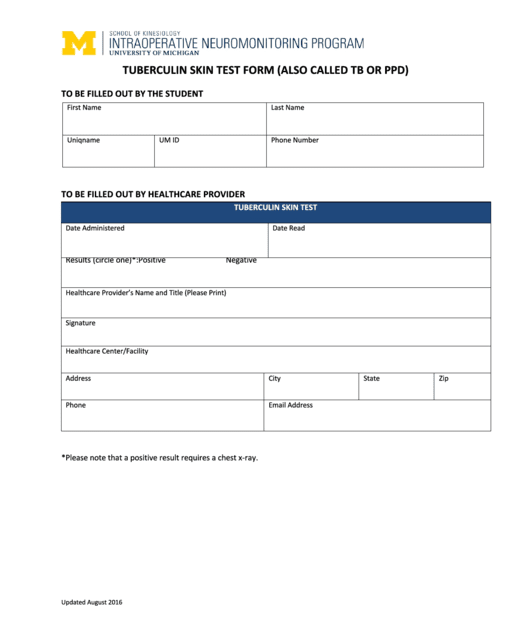 52 FREE T B SKIN TEST FORM PDF DOWNLOAD DOCX