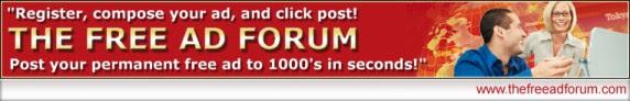 Post your free permanent ads on TheFreeAdForum.com