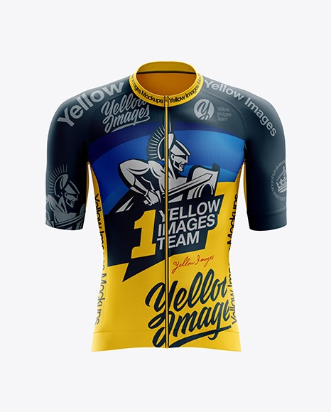 Download Men's Cycling Speed Jersey PSD Mockup Front View - Men's ...