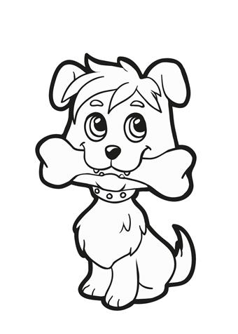 warnio05 hondenneus kleurplaat