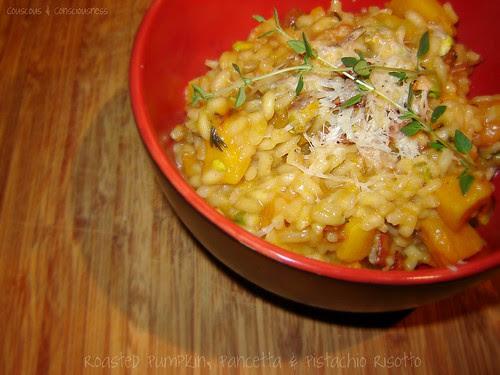 Roasted Pumpkin, Pancetta & Pistachio Risotto 2