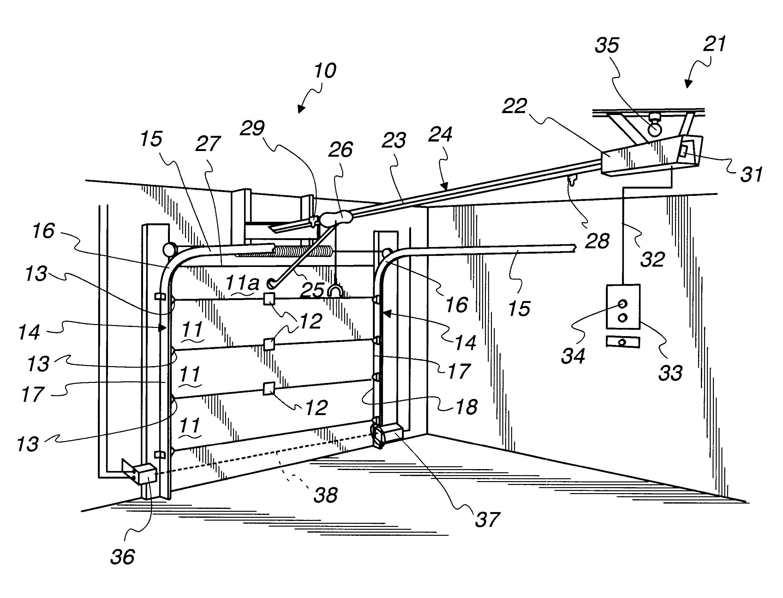 Patent US6563278 - Automated garage door closer - Google ...