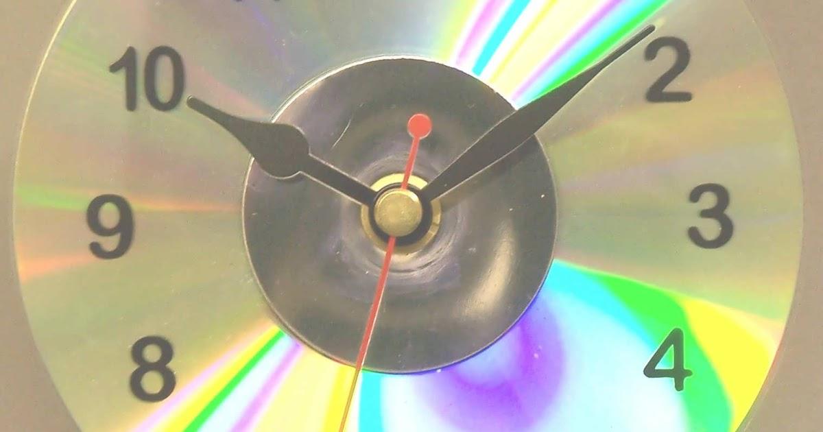 Ideas para el hogar reloj con cd - Reloj pegado pared ...