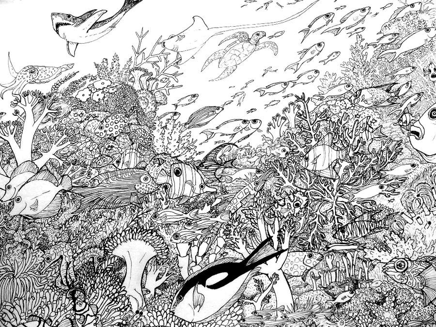 Coral Reef Coloring Page by Melanie76 on DeviantArt
